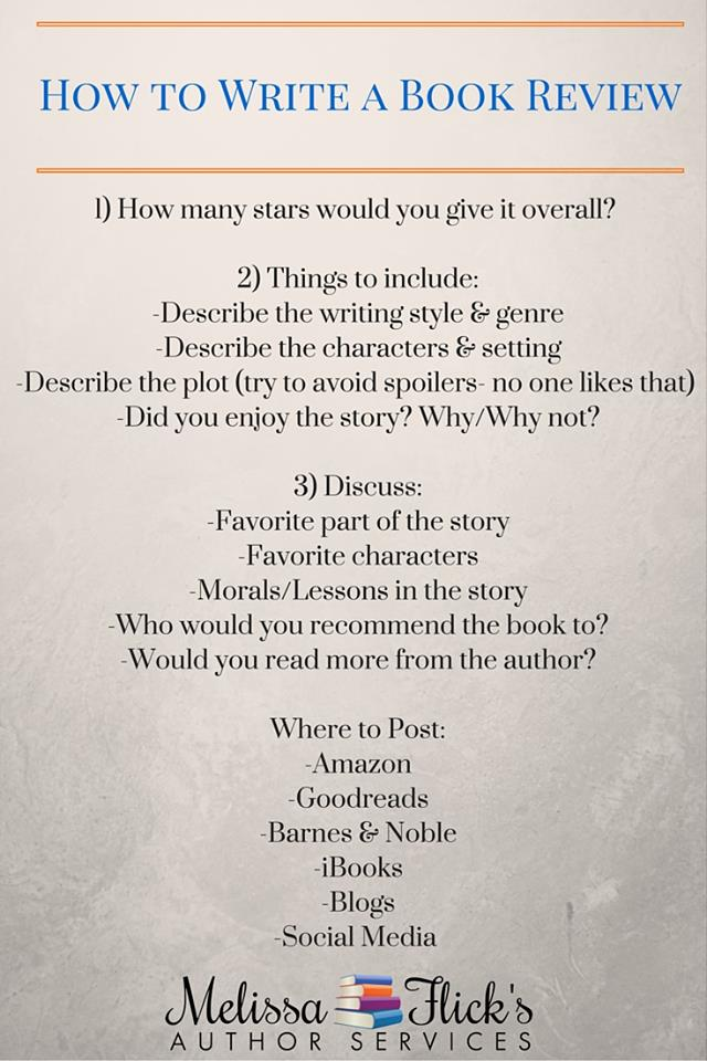 who to write a book review